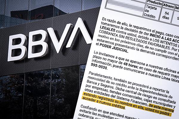 Pesadilla en el BBVA: una clienta estafada y una carta amenazante