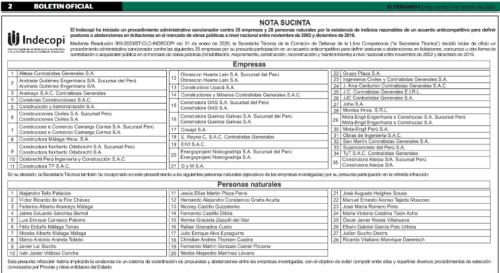 Boletín oficial - OHL
