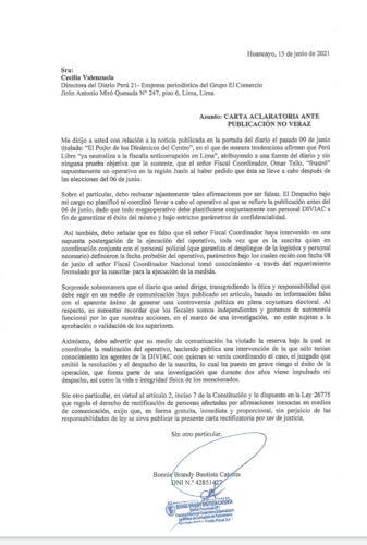 Carta Peru21