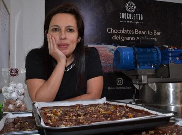 La chocolatera peruana que la rompe en Chile