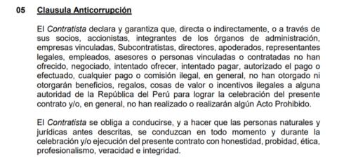 Clausula Anticorrupción