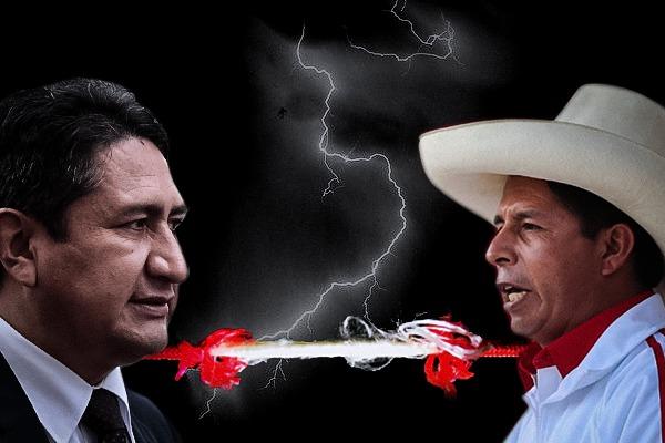 Conflicto Pedro Castillo/Vladimir Cerrón