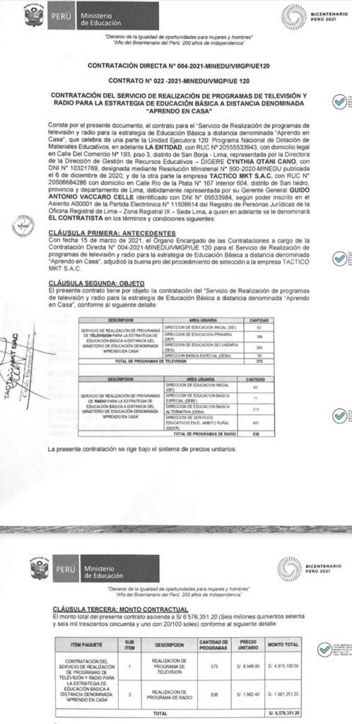 Contrato - Minedu