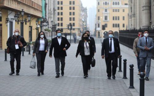 Guido Bellido se reunió hace dos días con la bancada que dirige la Mesa Directiva (Foto: Canal N).