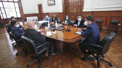 Parte de la bancada de AP en reunión con Bellido en la PCM (Foto: PCM).