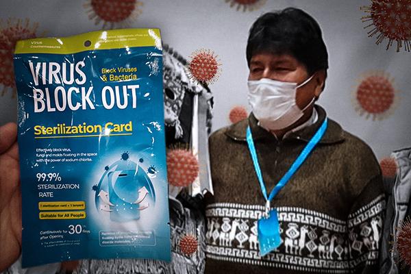 Influencias peligrosas: del negacionismo de Evo a la mentira de las tarjetas 'Virus Block Out'